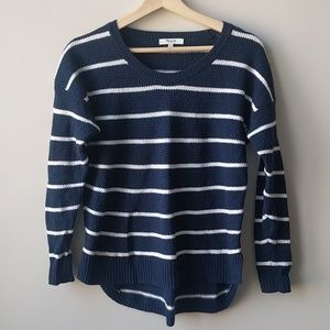 Madewell Sz S Blue Striped Sweater